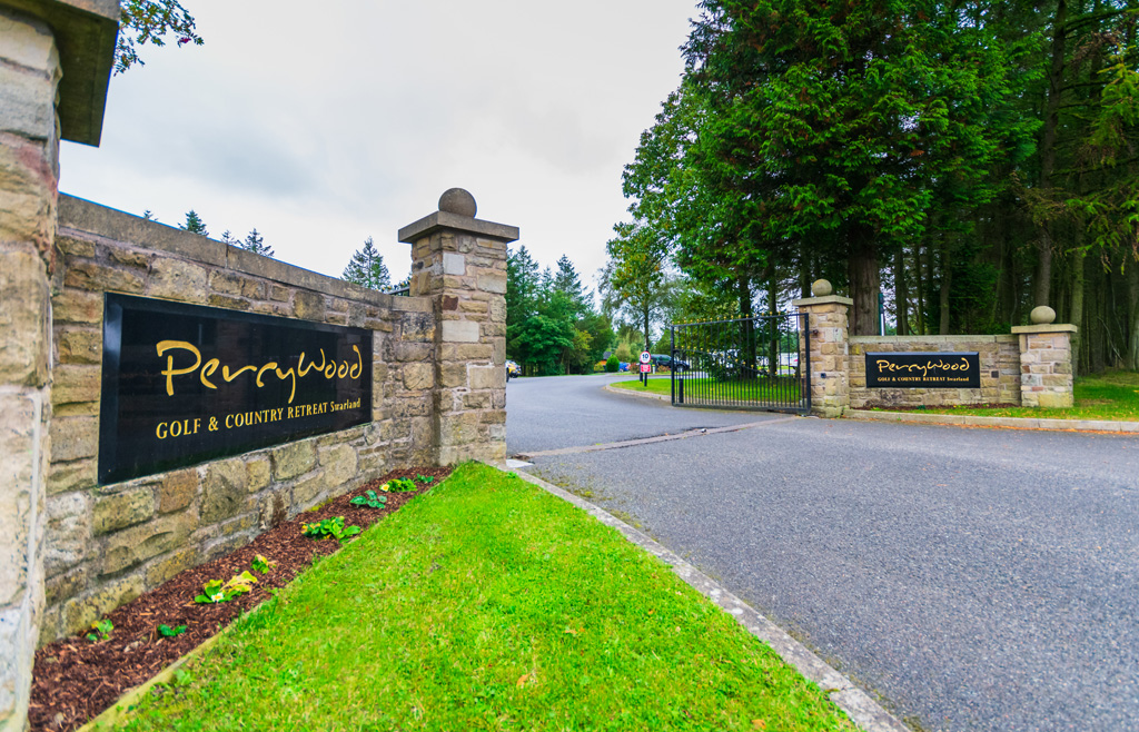 Entrance to Percy Wood Golf and Country Park